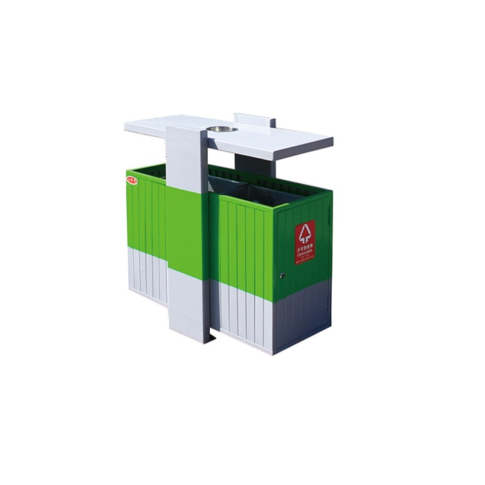 Metal Skip Public Waste Recycle Bin Eco Rufese Dustbin