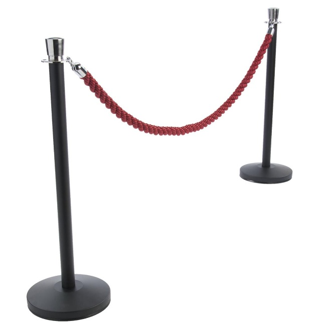 Bestseller Barrier Red Carpet Poles Stainless Steel Chrome Plated Rope Stanchions