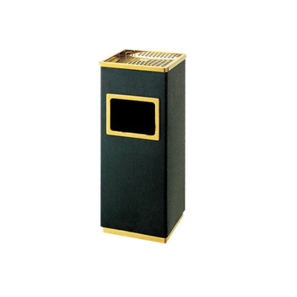 Durable Steel Square Scrap Metal Waste Litter Bins With Ashtray For Sale