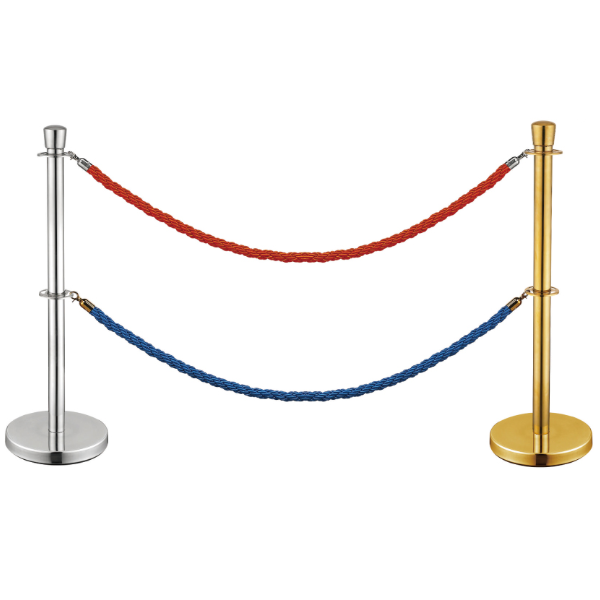 New Product Velvet Rope Queue Barrier Pole Stand Post Barriers for Sale