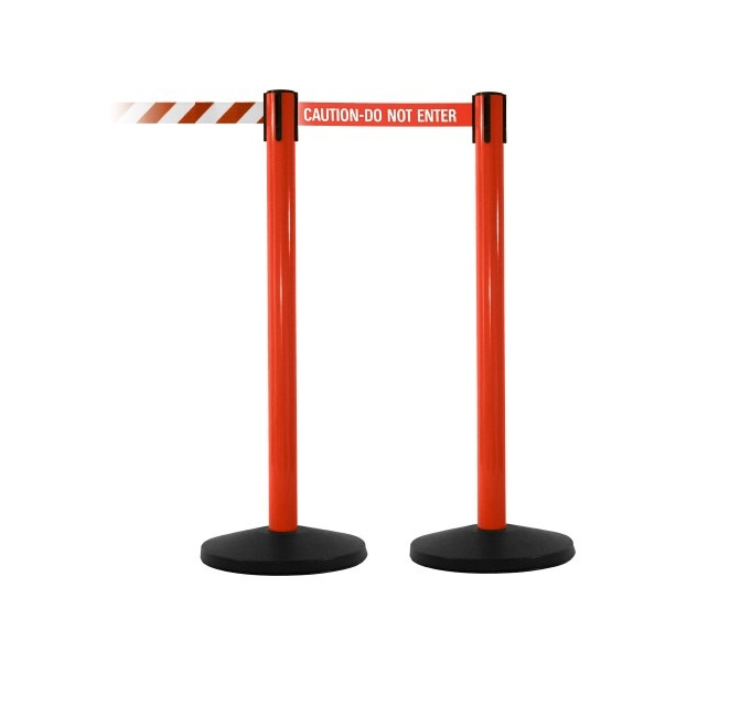 OEM Customized Base and Surface Finish Retractable Barrier Stanchions