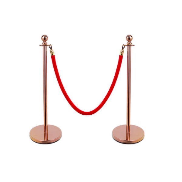 New Design Royal Top Velvet Rope Post Stanchion Queue Pole Stand