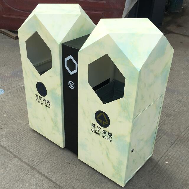New Urban Advertising Trash Bin HW-180223